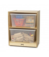 Jonti-Craft Single Jumbo Tote Classroom Storage with Clear Totes & Lids (example of use)