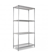 "Alera SW503618BA 36"" W x 18"" D x 72"" H 4-Shelf Wire Shelving Unit, Black Anthracite"