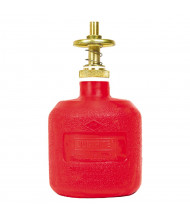 Justrite 14004 Polyethylene 8 Ounce Dispensing Safety Can, Red