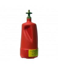 Justrite 14010 Nonmetallic 1 Quart Brass Valves Plunger Dispensing Safety Can, Red