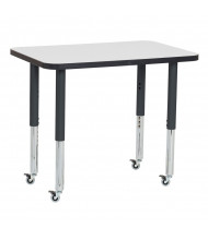 "ECR4Kids 36"" W x 24"" D Adjustable Mobile Activity Table (Shown in Grey)"