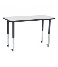 "ECR4Kids 48"" W x 24"" D Adjustable Mobile Activity Table (Shown in Grey)"