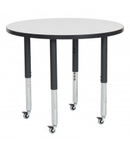 "ECR4Kids 36"" Dia. Round Adjustable Mobile Activity Table (Shown in Grey)"