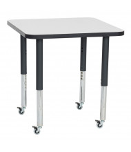 "ECR4Kids 30"" D Square Adjustable Mobile Activity Table (Shown in Grey)"