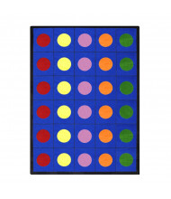 Joy Carpets Lots of Dots Classroom Rug, Primary