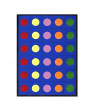 Joy Carpets Lots of Dots Classroom Rug, Primary