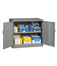 "Tennsco Standard 30"" Desk Height Storage Cabinets (Shown in Medium Grey)"