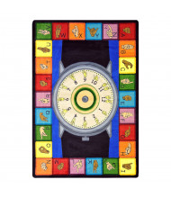 Joy Carpets Signs of the Time Rectangle Classroom Rug