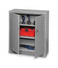 "Tennsco Standard 36"" W x 42"" H Counter Height Storage Cabinets (Shown in Medium Grey)"