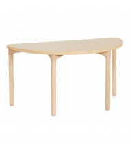 "ECR4Kids 48"" W x 24"" D Half-Round All-Purpose Play & Work Activity Table, Maple"