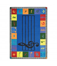 Joy Carpets Note Worthy Classroom Rug