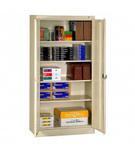 "Tennsco 36"" W x 72"" H Standard Storage Cabinets (Recessed Handle Shown in Sand)"