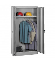 Tennsco Standard Wardrobe Cabinets (shown in medium grey)