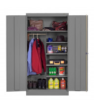 Tennsco Combination Wardrobe and Storage Cabinets (Medium Grey)