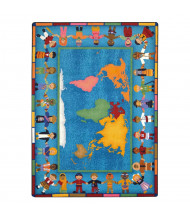 Joy Carpets Hands Around the World Classroom Rug