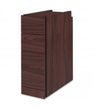 HON 3-Drawer Box/Box/File Narrow Pedestal, Mahogany