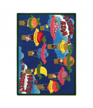 Joy Carpets Fruits of the Spirit Rectangle Classroom Rug