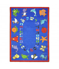 Joy Carpets ABC Animals (Hebrew Alphabet) Classroom Rug