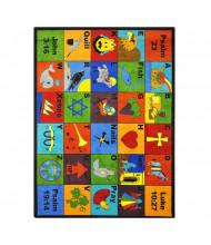 Joy Carpets Bible Phonics Rectangle Classroom Rug
