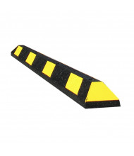 Checkers 6 ft. GNR Park-It Recycled Rubber Parking Stop (Shown in Black / Yellow)