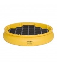 """Eagle 1615 31"""" Dia x 5"""" H Poly Spill Containment Drum Tray with Grating"""