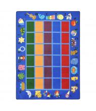 Joy Carpets Alphabet Phonics Rectangle Classroom Rug, Blue