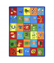 Joy Carpets Bilingual Phonics Rectangle Classroom Rug