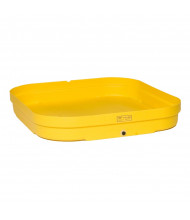 "Eagle 1638 4-Drum 51.5"" W x 51.5"" L Budget Basin, 66 Gallons, Yellow"