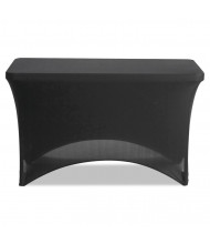 "Iceberg 48"" W x 24"" D Stretch-Fabric Table Cover, Black"