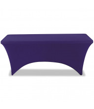 "Iceberg 72"" W x 30"" D Stretch-Fabric Table Cover, Blue"