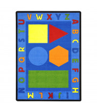 Joy Carpets Alphabet Shapes Rectangle Classroom Rug