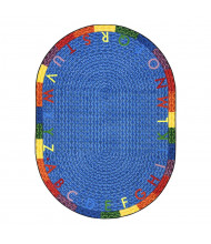 Joy Carpets Alphabet Braid Classroom Rug (Shown in Oval)