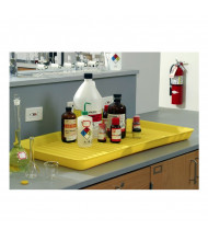 "Eagle 1677 36"" W x 18"" L Spill Containment Utility Tray, 5 Gallons, Yellow (example of application)"