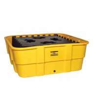 Eagle 400 Gallon Capacity All Poly IBC Tub Spill Container (in yellow with drain)