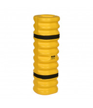 "Eagle 4"" to 6"" Round 42"" H HDPE Narrow Column Protector, Yellow with Black Straps 1704"