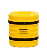 "Eagle 12"" HDPE Mini Column Protector 24"" H, Yellow 1724-12 (1724-10 shown)"