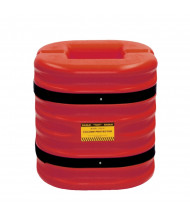 """Eagle 8"""" HDPE Mini Column Protector 24"""" H, Red 1724-8RED (1724-10 shown)"""