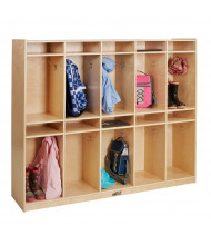 ECR4Kids Birch 10-Section Cubby Storage Locker