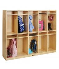 ECR4Kids Birch 10-Section Cubby Storage Locker