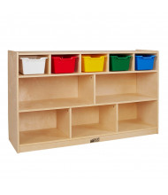 ECR4Kids Birch 5+5 Classroom Storage with Bins (Shown with Assorted Bins)