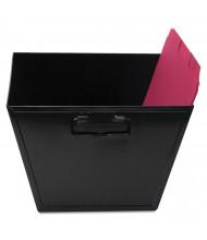 "Advantus 11-1/4"" D Letter Steel File and Storage Bin, Black"