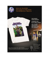 "HP 8-1/2"" x 11"", 8.5 mil, 12-Sheets, Iron-On Transfer Paper"