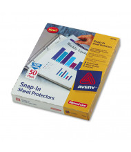 "Avery 8-1/2"" x 11"" Snap-In Heavyweight Sheet Protectors, 50/Box"