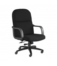 Mayline Comfort 1801AG Big & Tall 500 lb. Fabric High-Back Executive Office Chair (black)