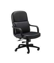 Mayline Comfort 1801AGL Big & Tall 500 lb. Genuine Leather High-Back Executive Office Chair