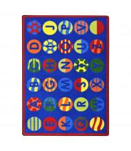 Joy Carpets Alphabet Patterns Rectangle Classroom Rug