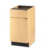 "HON Hospitality 24"" D Door/Drawer Single Base Cabinet, Natural Maple"