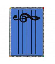 Joy Carpets Play Along Classroom Rug, Blue