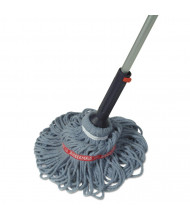 "Rubbermaid 56"" L Ratchet Twist Mop, Blue"