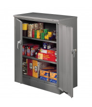 "Tennsco 36"" W x  42"" H Deluxe Counter Height Storage Cabinets (Shown in Medium Grey)"